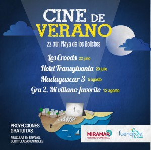 Cine de Verano en Fuengirola - Hotel Yaramar Fuengirola